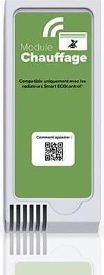 Αξεσουάρ ΘερμοπομπώνNoirotSmart ECO control Κιτ Επικοινωνίας Πράσινη Μονάδα Λευκό