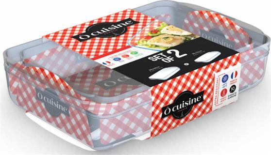 Γυάλινα ΣκεύηO CuisineΣετ 2 Ορθογώνια 248BC 35x22cm + 249BC 39x24cm