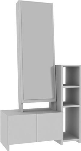 Έπιπλα Εισόδου - ΧωλPakoworldLeudi λευκό 80x35x155