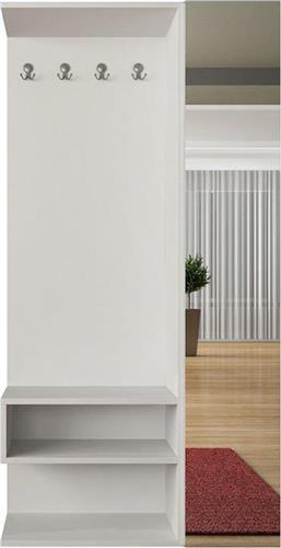 Έπιπλα Εισόδου - ΧωλPakoworldΈπιπλο εισόδου-παπουτσοθήκη Goro λευκό 94x32x180κ