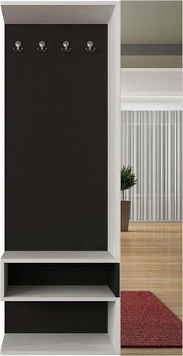Έπιπλα Εισόδου - ΧωλPakoworldΈπιπλο εισόδου-παπουτσοθήκη Goro λευκό-μαύρο 94x32x180εκ