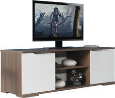 Pakoworld Flat Line Καρυδί Noce Λευκό για TV 140x45x47εκ