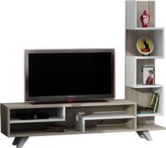 Pakoworld Isabel TV Sonoma-Λευκό 149,5x29,5x120