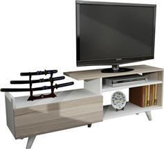 Pakoworld Magnus TV Sonoma-Λευκό 140x29,5x51
