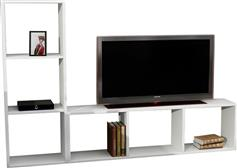 Pakoworld Natalie TV Λευκό 123x29,5x90