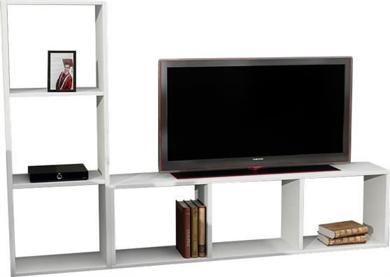 ΚονσόλαPakoworldNatalie TV Λευκό 123x29,5x90