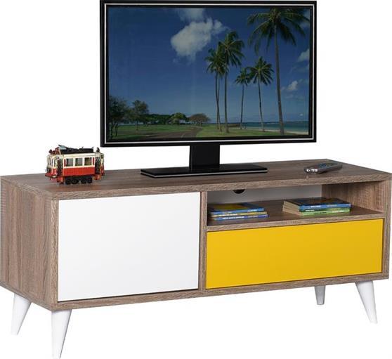 ΚονσόλαPakoworldRetro Latte Κίτρινο Λευκό για TV 039-000032