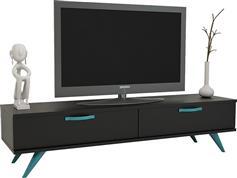 Pakoworld Tv Box Μαύρο με Τιρκουάζ 150x40,5x41εκ