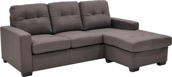ΚαναπέςPakoworldΓωνιακός καναπές Betty υφασμάτινος καφέ 200x160x90