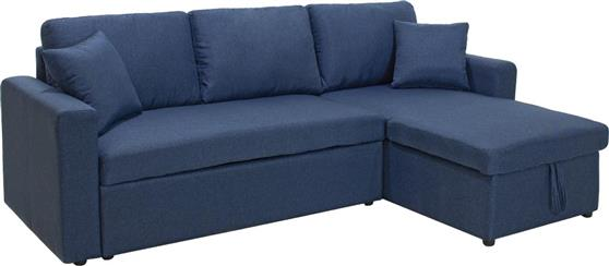 ΚαναπέςPakoworldΓωνιακός καναπές κρεβάτι Marvel μπλε ύφασμα
