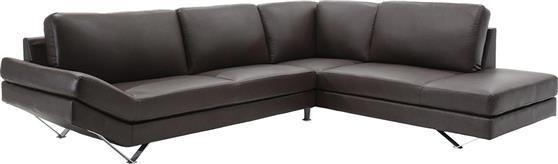 ΚαναπέςPakoworldΓωνιακός καναπές Noah Δερματίνη σκούρο καφέ 285x235x88