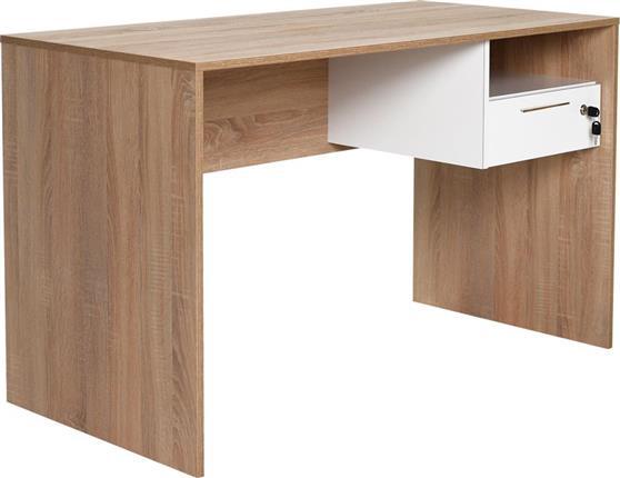 ΓραφείοPakoworldΓραφείο Concept sonoma-λευκό 120x60x75εκ