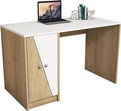 Pakoworld Γραφείο Gold λευκό-φυσικό 120x60x75 εκ