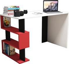 Pakoworld Γραφείο SNAP λευκό με κόκκινο/μαύρο 120x60x75εκ