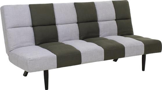 ΚαναπέςPakoworldΚαναπές-κρεβάτι 3θέσιος Freddy υφασμάτινος γκρι-χακί 182x81x84εκ