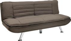 Pakoworld Καναπές-κρεβάτι Comfort 3θέσιος καφέ ύφασμα 182x88x84