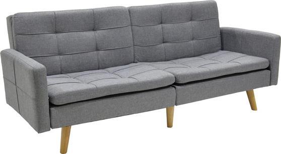 ΚαναπέςPakoworldΚαναπές-κρεβάτι Flexible γκρι ύφασμα 200x87x82εκ
