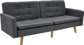 Pakoworld Καναπές-κρεβάτι Flexible γκρι σκούρο ύφασμα 200x87x82εκ
