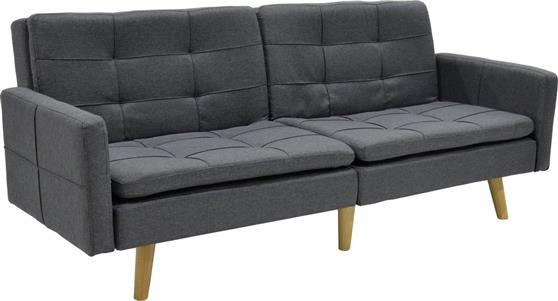 ΚαναπέςPakoworldΚαναπές-κρεβάτι Flexible γκρι σκούρο ύφασμα 200x87x82εκ