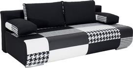 Pakoworld Kαναπές-κρεβάτι Joe 3θέσιος ύφασμα λευκό-μαύρο