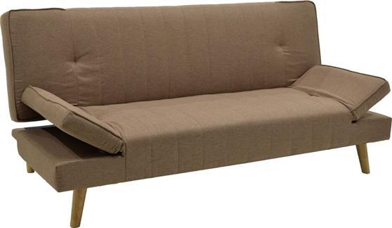 ΚαναπέςPakoworldΚαναπές-κρεβάτι Lito 3θέσιος ανοικτό καφέ ύφασμα 183x87x84εκ