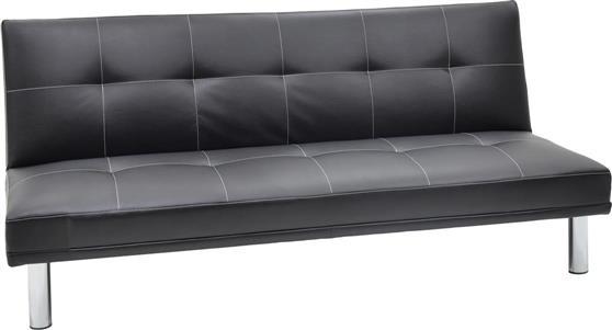 ΚαναπέςPakoworldΚαναπές-κρεβάτι Shine 3θέσιος Δερματίνη μαύρο 178x91x78