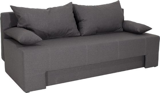 ΚαναπέςPakoworldKαναπές-κρεβάτι Sunny 3θέσιος ύφασμα γκρι