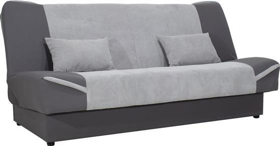 Pakoworld Kαναπές-κρεβάτι Tina 3θέσιος ύφασμα γκρι-ανθρακί