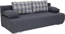 Pakoworld Kαναπές-κρεβάτι Victor 3θέσιος ύφασμα ανθρακί