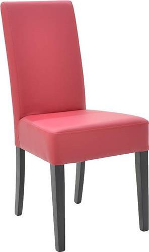 ΚαρέκλαPakoworldDITTA ξύλο οξιάς & κόκκινη Δερματίνη
