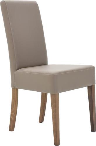 ΚαρέκλαPakoworldDITTA ξύλο οξιάς & μόκα δερματίνη