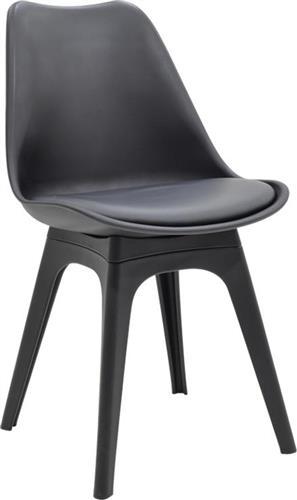 ΚαρέκλαPakoworldΚαρέκλα Gaston Πολυπροπυλένιο-Δερματίνη μαύρο