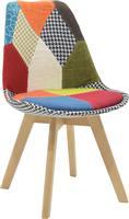 Pakoworld Καρέκλα Gaston ύφασμα patchwork