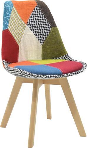 ΚαρέκλαPakoworldΚαρέκλα Gaston ύφασμα patchwork