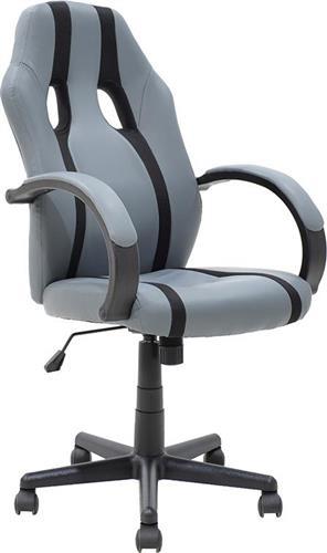 Καρέκλα ΓραφείουPakoworldΚαρέκλα Fighter Δερματίνη μαύρο-γκρι