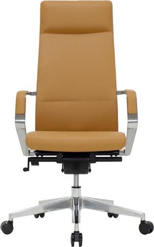 Καρέκλα ΓραφείουPakoworldAlaska Καφέ-Ταμπά Διευθυντική