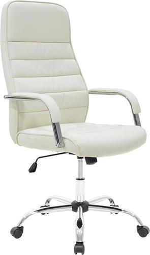Καρέκλα ΓραφείουPakoworldΚαρέκλα Alvaro Δερματίνη εκρού