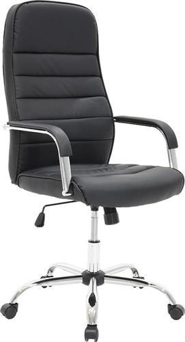 Καρέκλα ΓραφείουPakoworldΚαρέκλα Alvaro Δερματίνη μαύρο