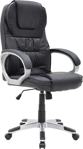 Καρέκλα ΓραφείουPakoworldΚαρέκλα Batler Δερματίνη μαύρο