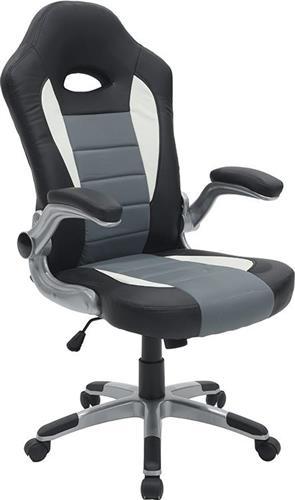 Καρέκλα ΓραφείουPakoworldΚαρέκλα Gaming Gero Δερματίνη μαύρο-γκρι