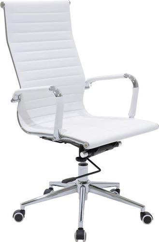 Καρέκλα ΓραφείουPakoworldΚαρέκλα Doro Δερματίνη λευκό