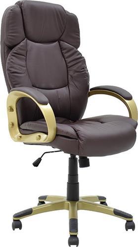 Καρέκλα ΓραφείουPakoworldΚαρέκλα Elephant Δερματίνη καφέ-χρυσό
