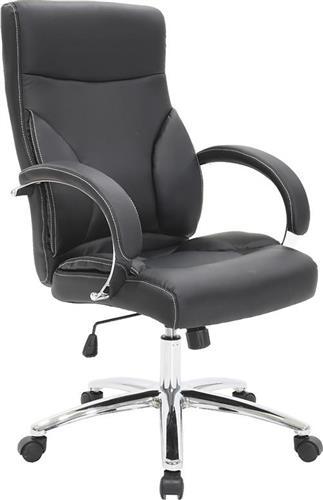 Καρέκλα ΓραφείουPakoworldΚαρέκλα Filippo Δερματίνη μαύρο