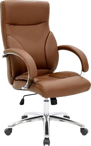 Καρέκλα ΓραφείουPakoworldΚαρέκλα Filippo Δερματίνη σκούρο καφέ