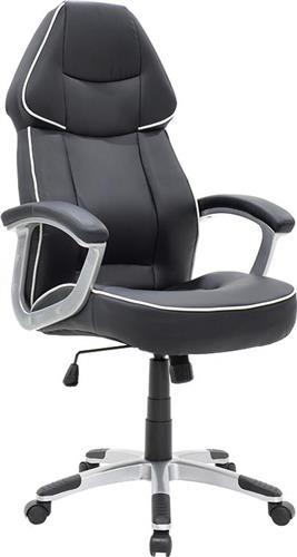 Καρέκλα ΓραφείουPakoworldΚαρέκλα Henry Δερματίνη μαύρο