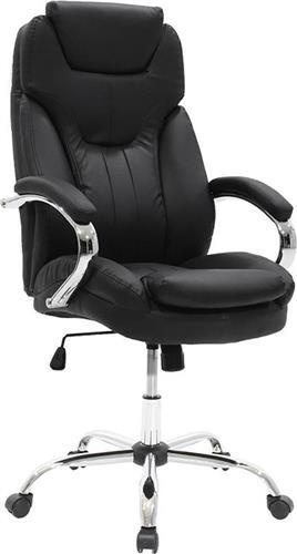 Καρέκλα ΓραφείουPakoworldΚαρέκλα Jack Δερματίνη μαύρο
