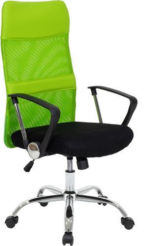 Καρέκλα ΓραφείουPakoworldΚαρέκλα Joel ύφασμα mesh μαύρο-πράσινο