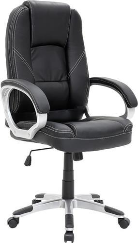 Καρέκλα ΓραφείουPakoworldΚαρέκλα Lucia Δερματίνη μαύρο
