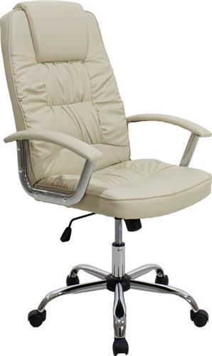 Pakoworld Καρέκλα MATA Δερματίνη μπεζ