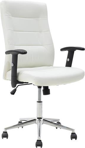 Καρέκλα ΓραφείουPakoworldΚαρέκλα Eliot Δερματίνη λευκό